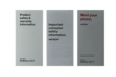 NEW Verizon Samsung Galaxy J3 Manual / Consumer Info / Product Safety Info