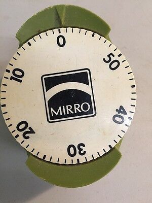 Vintage Mirro Kitchen Timer Green  Color - 60 Minutes