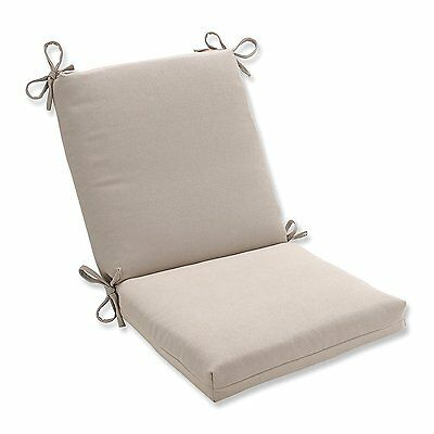 Pillow Perfect Indoor/Outdoor Beige Solid Chair Cushion, Squared - New Free Ship