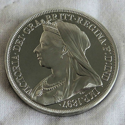 Scotland 1897 Queen Victoria Pewter Pattern Proof Crown