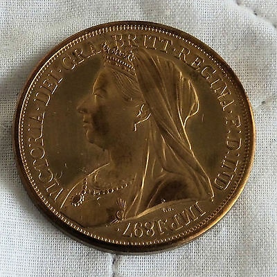 Scotland 1897 Queen Victoria Golden Alloy Pattern Proof Crown