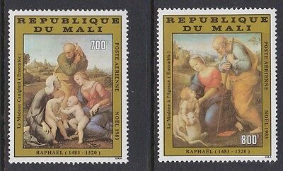 Mali 1983 Air Christmas Art Raphael complete mint issue sg986-987