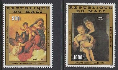 Mali 1982 Air Christmas Art Titian Bellani complete mint issue sg945-956