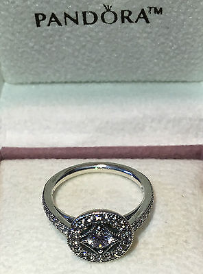 Pandora Vintage Allure Ring 191006Cz, S925 Ale Sterlling Silver. All Sizes