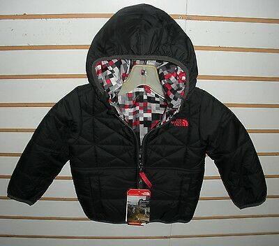 The North Face Toddler Boys Reversible Perrito Jacket-Black/red- 3T,4T,5T,6T
