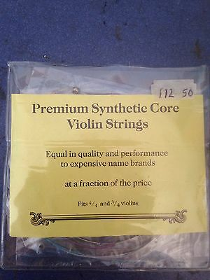 Premium Synthetic Core Violin Strings 4/4