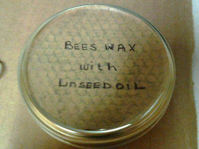 Pure Beeswax and Linseed Oil Wood Polish [3 parts oil to 1 part wax]