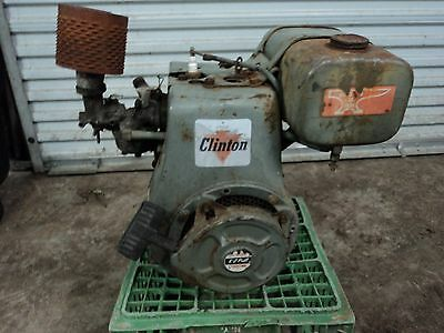 Vintage Clinton 4 Cycle Engine, Good Condition, Parts Or Repair, Free,fast Ship