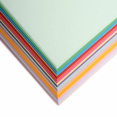 A4 Coloured Craft Sheets - Printer Copier Packs - 160gsm Card