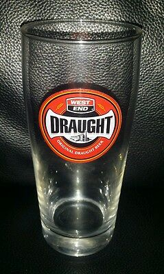 Rare Collectable West End Draught 285Ml Beer Glass Brand New Never Used