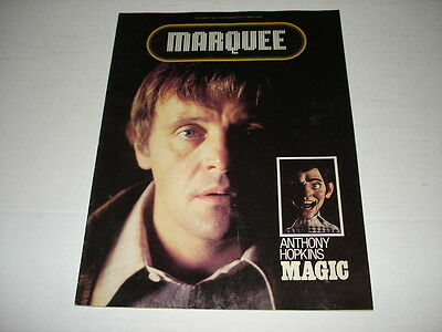 ANTHONY HOPKINS rare Marquee movie magazine 1978 Farrah Fawcett MAGIC Hayes