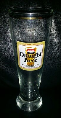 Rare Collectable Vintage West End Draught 570Ml Beer Glass Brand New Never Used