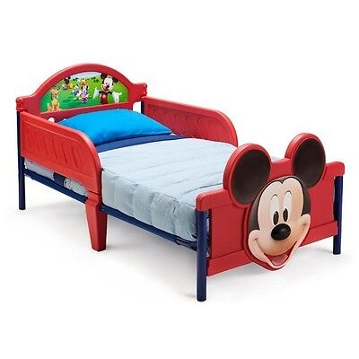 FACTORY NEW Disney Mickey Mouse 3D Toddler Bed INTERNATIONAL SHIPPING