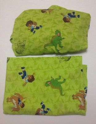 Go Diego Go Crib Toddler Bed Sheet Set Fitted & Flat Cartoon Dora Sewing Fabric