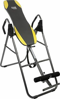 Pure Fitness Gravity Inversion Therapy Table: Adjustable Folding Table Yellow...