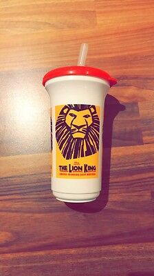 The Lion King The Musical Plastic Cup With Straw- Memorabilia