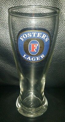 Rare Collectable Fosters Lager 285Ml Beer Glass In Excellent Condition