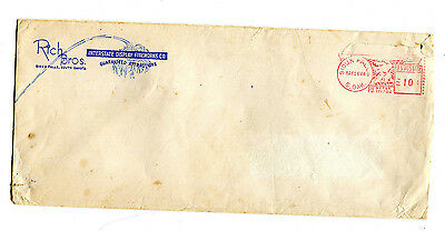 Vintage Advertising Envelope Cover RICH BROS DISPLAY FIREWORKS Sioux Falls SD