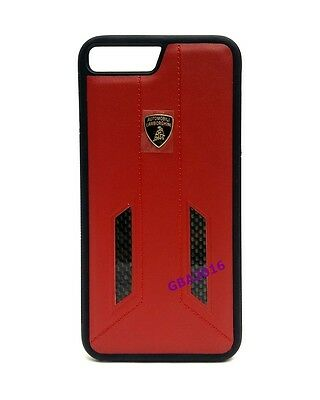 """Lamborghini Huracan-D6 Leather Back Cover Case for iPhone 7 / 8 (4.7"""") Red"""