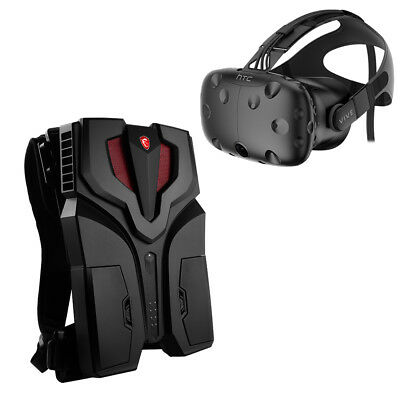 MSI VR One 16GB 512GB GTX 1070 Backpack + HTC Vive VR Virtual Reality Gaming Kit