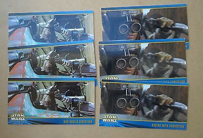 STAR WARS TOPPS x 3 SETS OF PROMO CARDS WIDEVISION SERIES 2 GOOD CONDITION