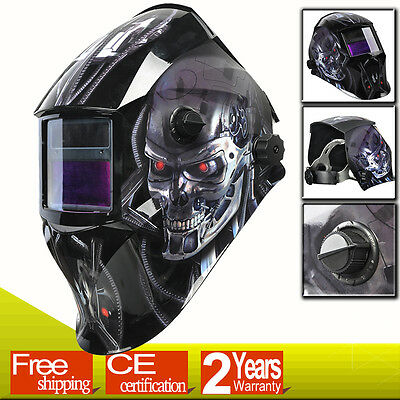 MSkull Auto Darkening Solar Power Welding Helmet Mask Welder Grinding Mode Delay