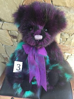 Smudge Collectable Charlie Bears Fully Jointed 30cm Plush Teddy Bear