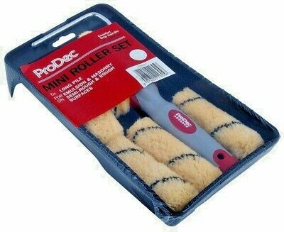 "ProDec Mini Roller Kit 4"" Inch / 100mm Paint Tray, Frame & 5 x Refills (PRRT017)"
