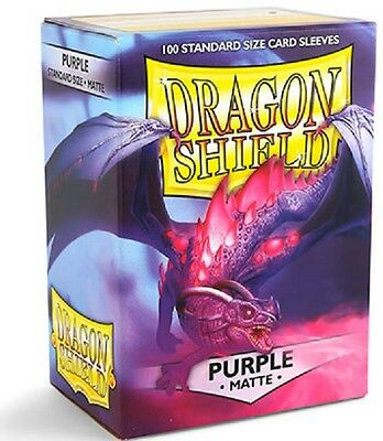 Dragon Shield Sleeves Standard (100) - Matte Purple #dragonshield