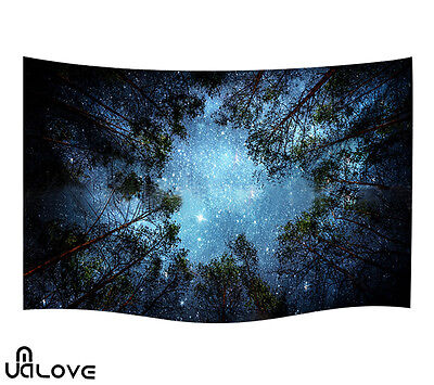 Sky Forest Tapestry Wall Hanging Hippie Style Throw Gypsy Boho Dorm Bedspread
