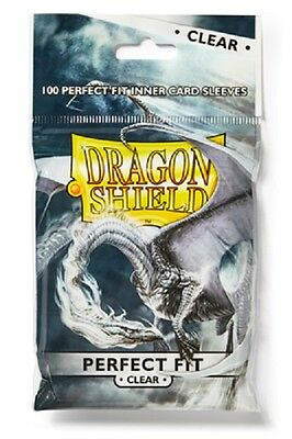 Dragon Shield Sleeves Standard (100) - Perfect Fit Clear #dragonshield