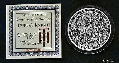 """Hobo Nickel Series """"Knight, Death And The Devil"""" 1 oz Silver Round Antiqued Coin"""