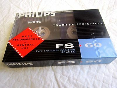CASSETTE TAPE BLANK SEALED - 1x (one) PHILIPS FS 90 [1989]