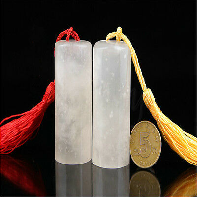 Frozen Jade Chinese Antique Art Carving Seal Sculpture Name DIY Stone Collection