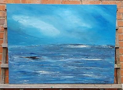Large Art Original Painting 'Orca' Acrylic Seascape on canvas 30x40inches