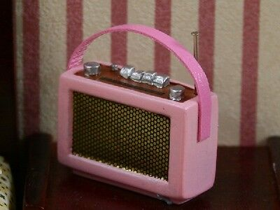 Pink Radio -  New In Packet - 1.12 Scale Accessory For The Dolls House