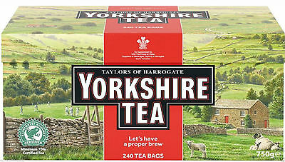 Yorkshire Tea Bags, 240, 750g *Slighty Damaged Boxes, Sealed, Perfectly Usable*
