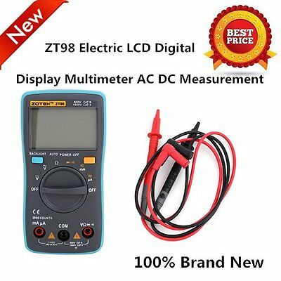 ZT98 Universal Electric LCD Digital Display Multimeter AC DC Measurement LOT LN