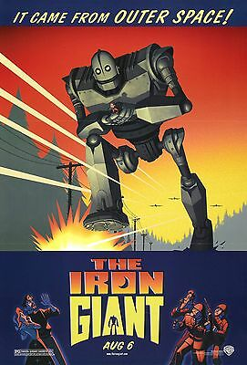 THE IRON GIANT LAMINATED MINI MOVIE POSTER  A4 PRINT vin diesel
