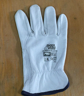 P/K OF 12 pair x Size XL RIGGER LEATHER GLOVE (Brand new)