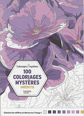 ART THERAPIE 100 COLORIAGES MYSTERES INEDITS ANTI-STRESS coloriage HACHETTE