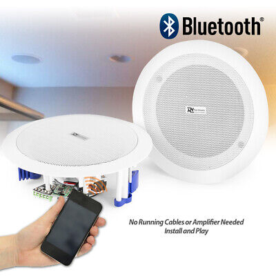 Ceiling speakers 60w wireless bluetooth audio streaming home audio living room for Best bluetooth speaker for living room