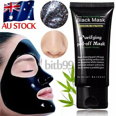 Black Mud Facial Care Deep Cleansing Peel Off Removal Blackhead Nose Face Mask A