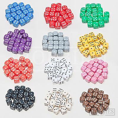 20 Dice Six Sided Set RPG Wargame Board Games 12mm D6 White Black Blue Packs