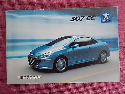 Peugeot 307 Cc Coupe / Cabriolet Owners Manual - Guide - Handbook (Pe 1022)