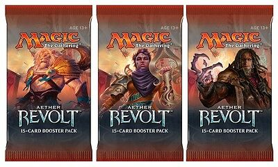 MAGIC THE GATHERING  - AETHER REVOLT BOOSTER PACK x 3- PRE ORDER SHIPS 20.01.17