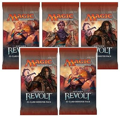 MAGIC THE GATHERING  - AETHER REVOLT BOOSTER PACK x 5- PRE ORDER SHIPS 20.01.17