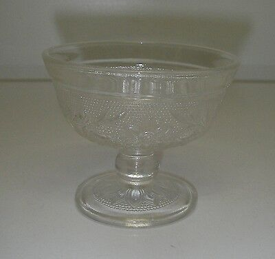 """Anchor Hocking Glass SANDWICH Clear Champagne Tall Sherbet 3 1/8"""" Depression."""