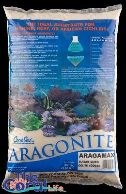 Caribsea Aragamax 30Lb Aragonite Reef Sand Suger Sized 0.1Mm - 1Mm