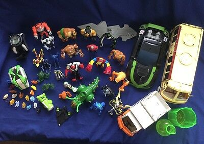 Large Bundle of BEN 10 Toys Figures Watches and Vehicles 50+ pieces